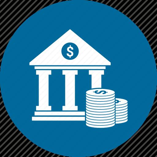 apex court, bank, building, coin, court, court building, dollar icon