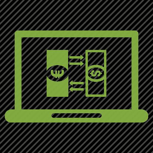 browser, dollar, laptop icon
