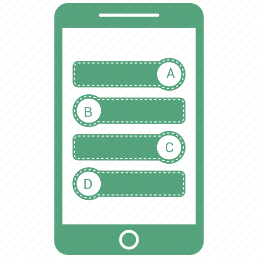 graph, infographic, mobile, phone icon
