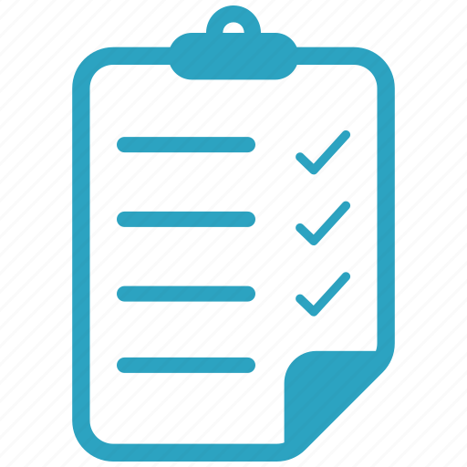 clipboard, education, file, notepad icon