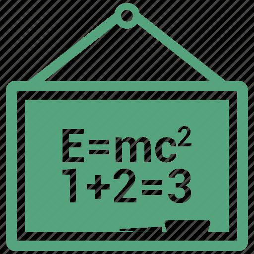 blackboard, board, education icon