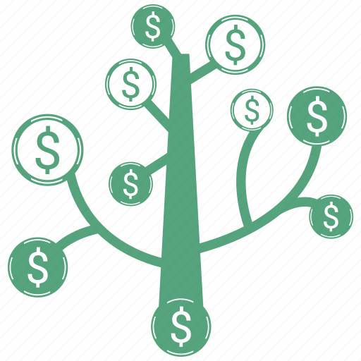 money, tree icon