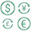 dollar, euro, exchange icon