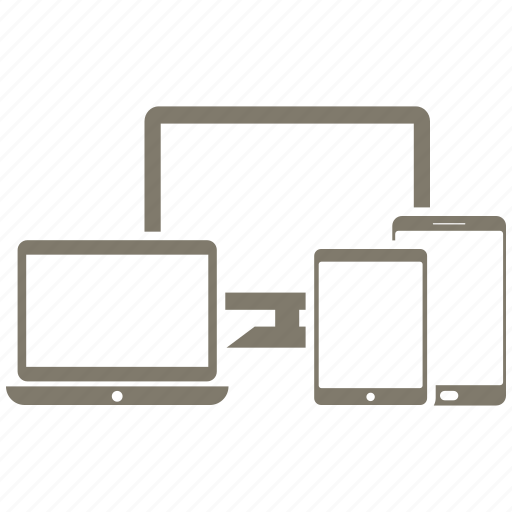 laptop, mobile, monitor, phone icon