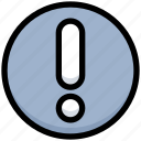 alert, business, exclamation, financial, interface, mark