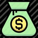 bag, business, cash, dollar, financial, money