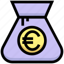 bag, business, cash, euro, financial, money