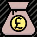 bag, business, cash, financial, money, pound