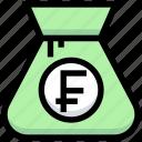 bag, business, cash, financial, franc, money
