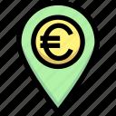 business, euro, financial, gps, location, map pin