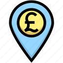 business, financial, gps, location, map pin, pound