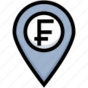 business, financial, franc, gps, location, map pin