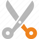 business, finance, marketing, office, scissors icon
