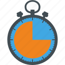 business, finance, marketing, office, stopwatch icon