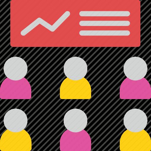 business, conference, presentation, teacher, training icon