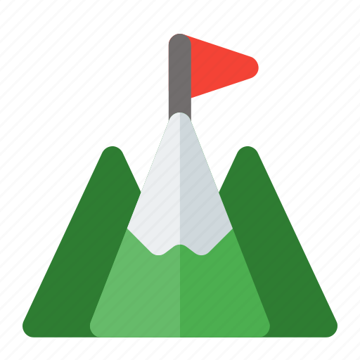 business, goals, millestone, mountain, target icon