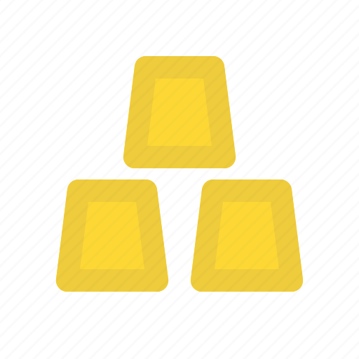bar, business, finance, gold icon