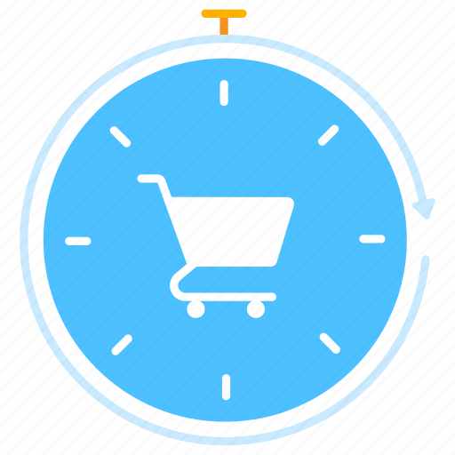 ecommerce, market, offer, purchase, sale, shopping, time icon