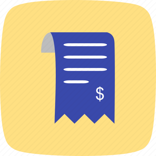 bill, invoice, order, receipt icon