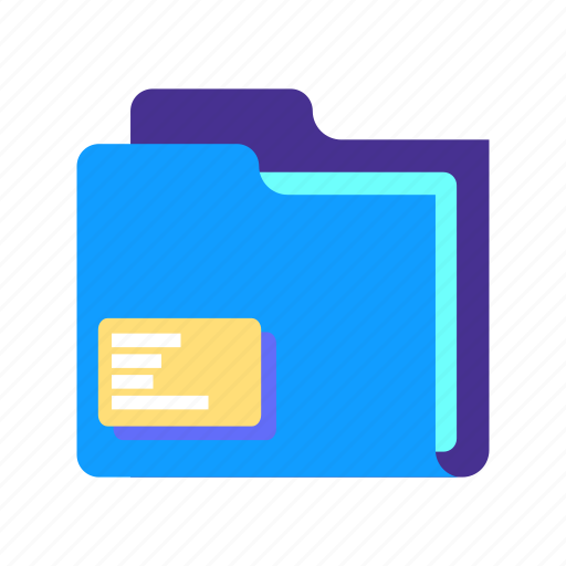 computer, data, document, file, folder, portfolio, storage icon