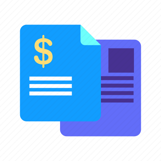 bill, document, finance, invoice, paid, payment, receipt icon