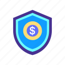 bank, finance, financial, protect, protection, safety, security icon