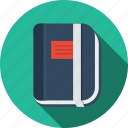 book, datebook, diary, document, education, moleskine, notepad, organizer, paper, planner, sketch, sketchbook, text icon