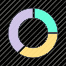 chart, graph, pie icon