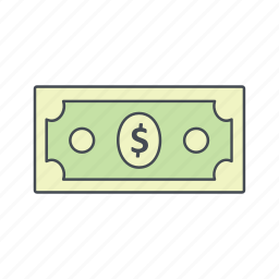 bank note, currency, dollar icon