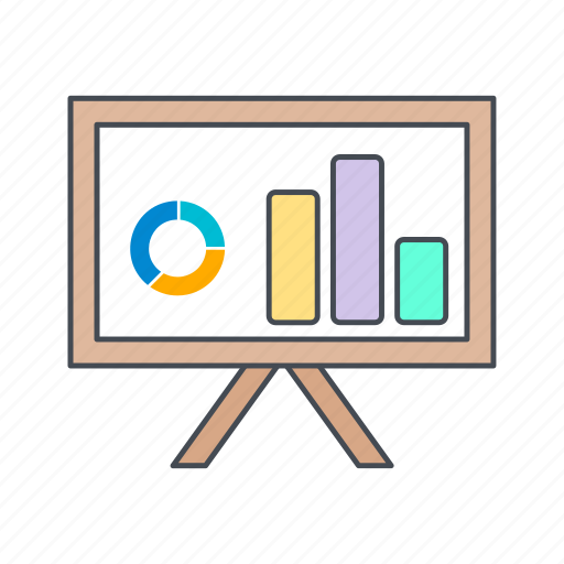 business, chart, graph, presentation icon
