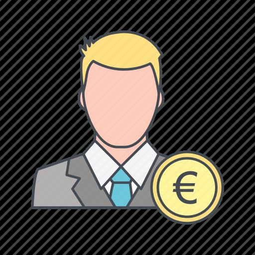 avatar, euro, user icon