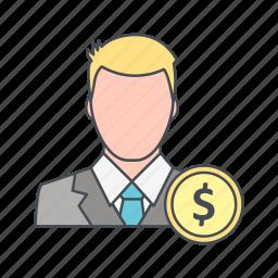 avatar, dollar, user icon