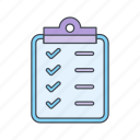 checklist, clip board, planning, strategy icon
