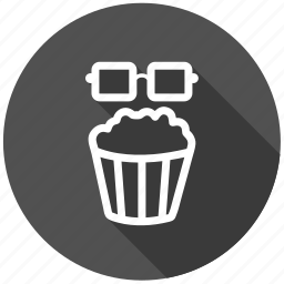 cinema, entertainment, food, junk food, movie, popcorn, snack icon