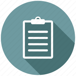 board, clipboard, form, notepad, page, paper, pda icon