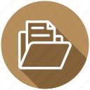 archive, directory, document, file, files, folder, library icon
