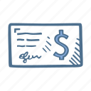 business, check, finance, paycheck icon