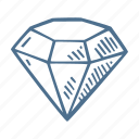 business, diamond, finance, quality icon