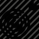 aim, bullseye, dartboard, focus, target icon