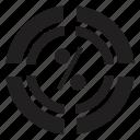 business, marketing, percentage, ratio icon