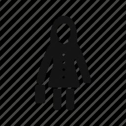 briefcase, female, portfolio, woman with briefcase icon