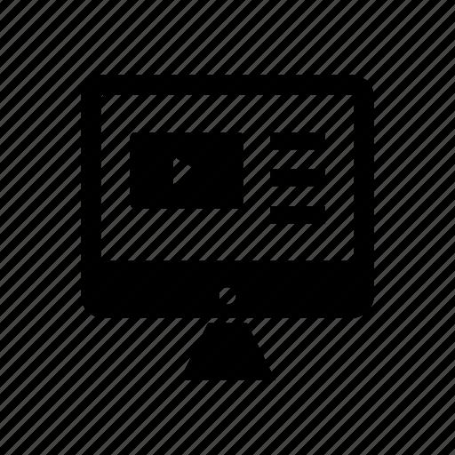 lcd, monitor, tv icon