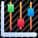 chandlestick, chart, stats, diagram, analytics