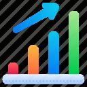 growth, bar, graph, chart, analytics
