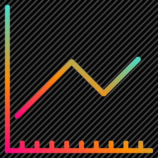 business, finance, graph, web icon