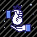 bribe, business, finance, loan icon