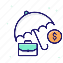 business, insurance, investments, recession icon
