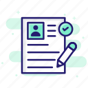 employee, portfolio, profile, resume