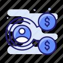 employee, job, salary, wages icon