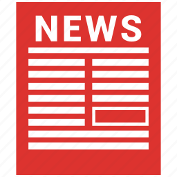 article, media, news, news article, newspaper icon
